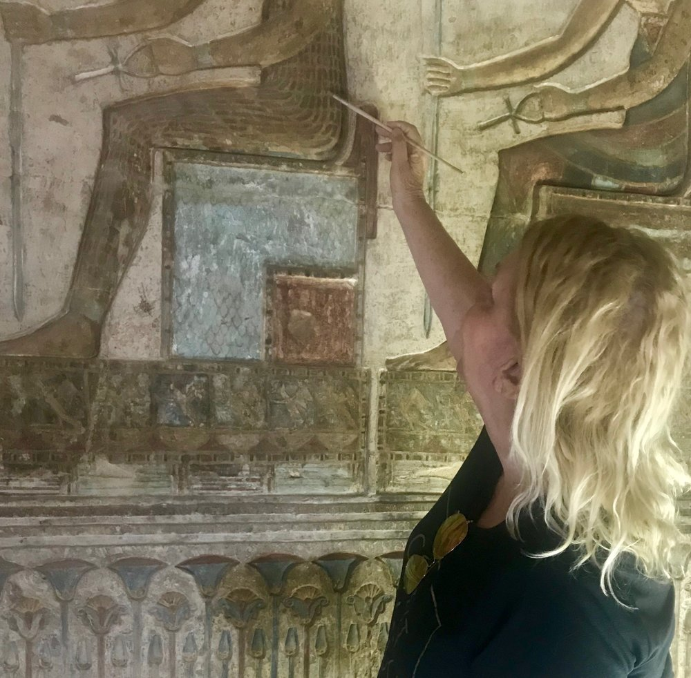 February 2018 helping with the housework in Hathor Temple at Deir el Medina