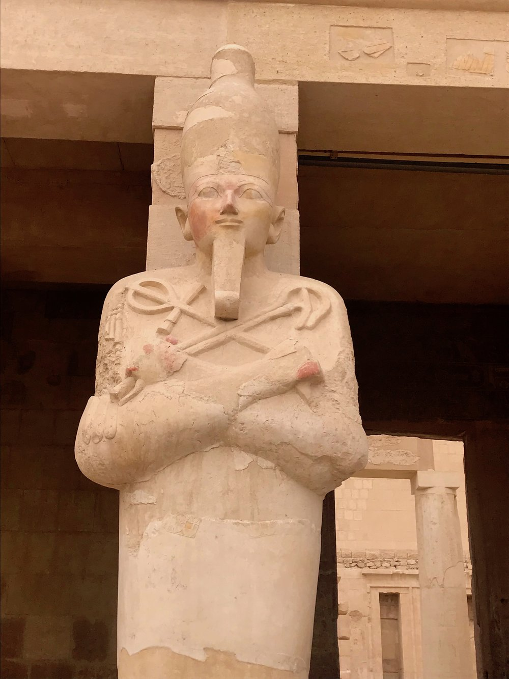 Closeup of Queen Hatshepsut