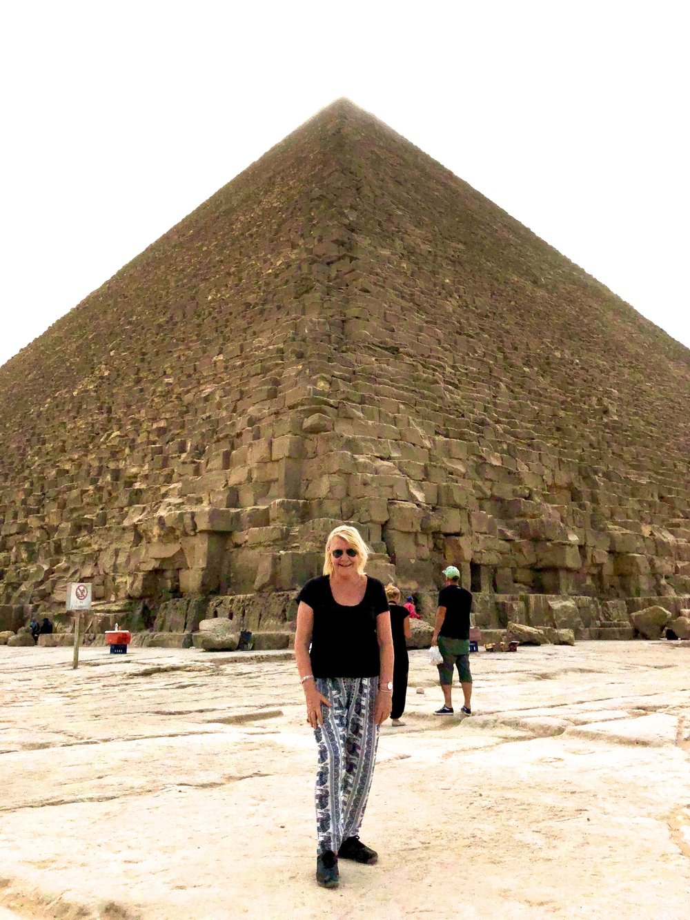 October 2018 in front of the Great Pyramid
