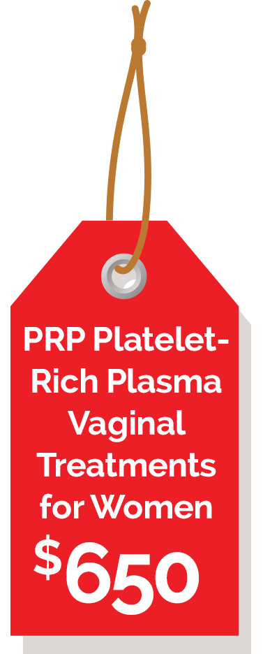 PRP Platelet-Rich Plasma Vaginal Rejuvenation Treatments for Women $650