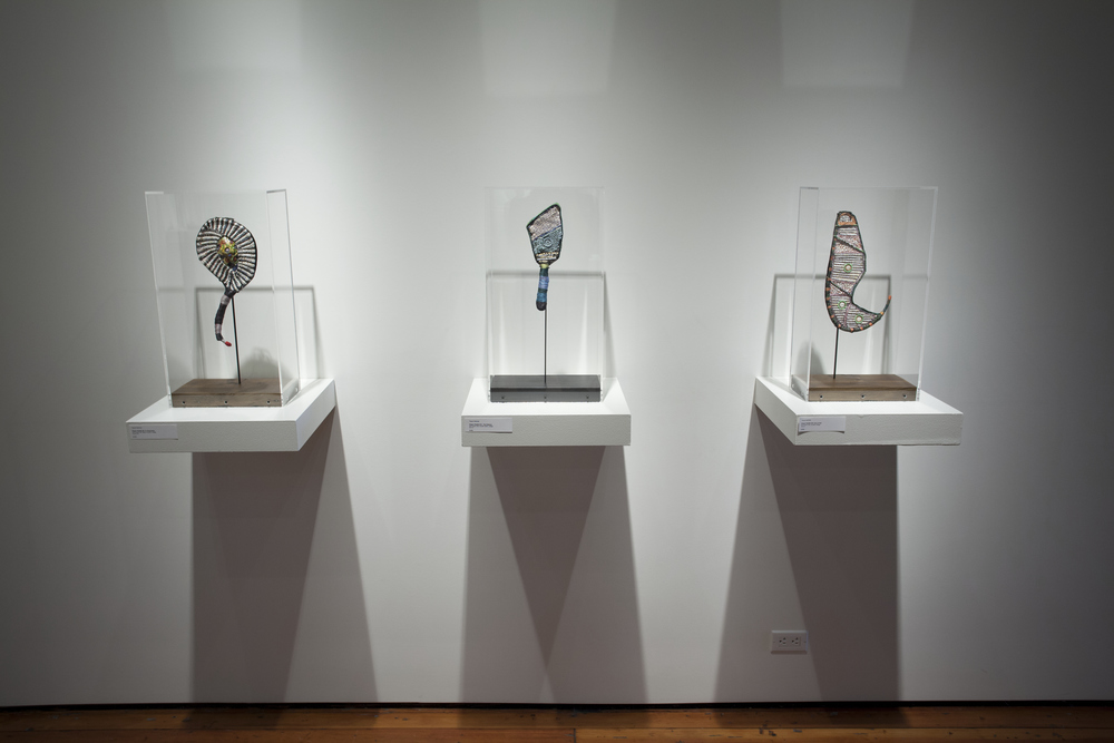 Prayer Paddles , Installation View, Sherry Leedy Contemporary Art, Kansas City, Missouri, 2013.