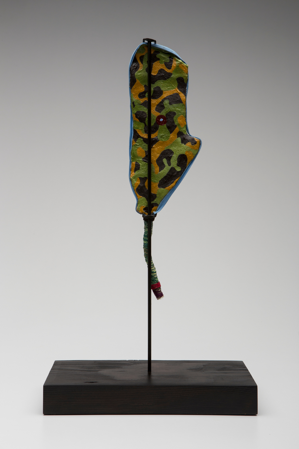 Prayer Paddle: Love Not Fear (back view) , mixed media, 15 by 13 ½ inches, 2007-2014.