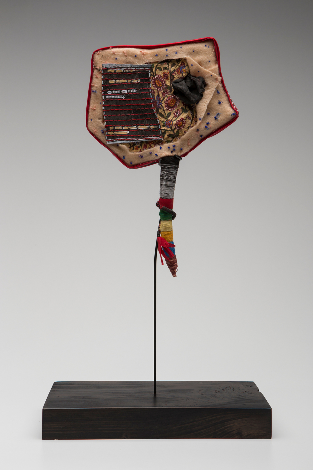 Prayer Paddle: For Loneliness , mixed media, 11 by 7 inches, 2007-2014.