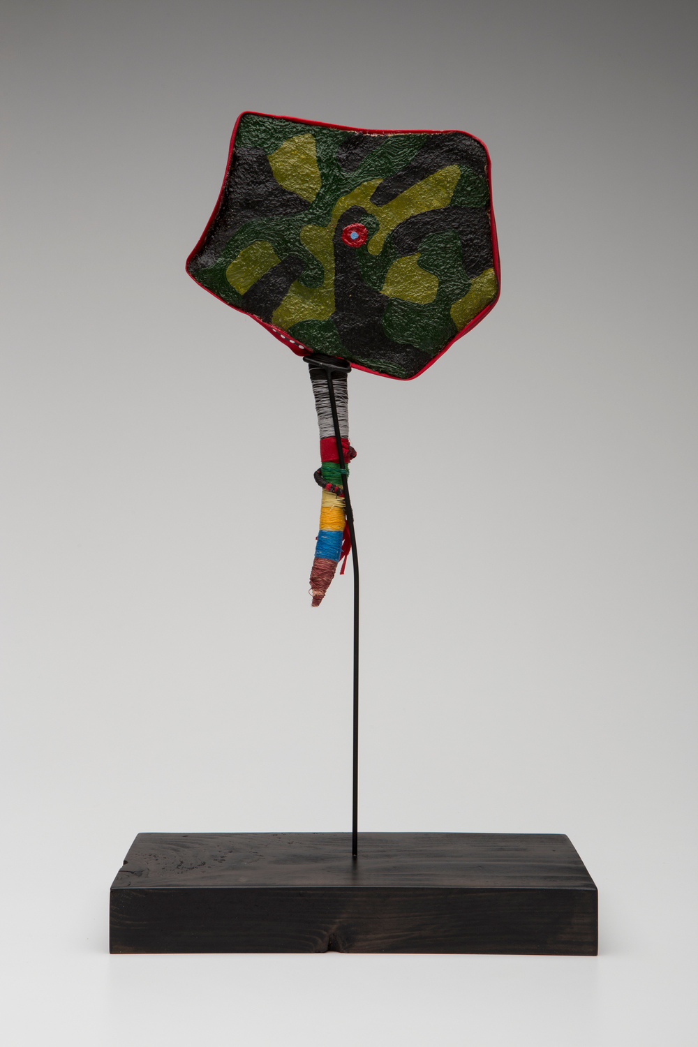 Prayer Paddle: For Loneliness (back view) , mixed media, 11 by 7 inches, 2007-2014.