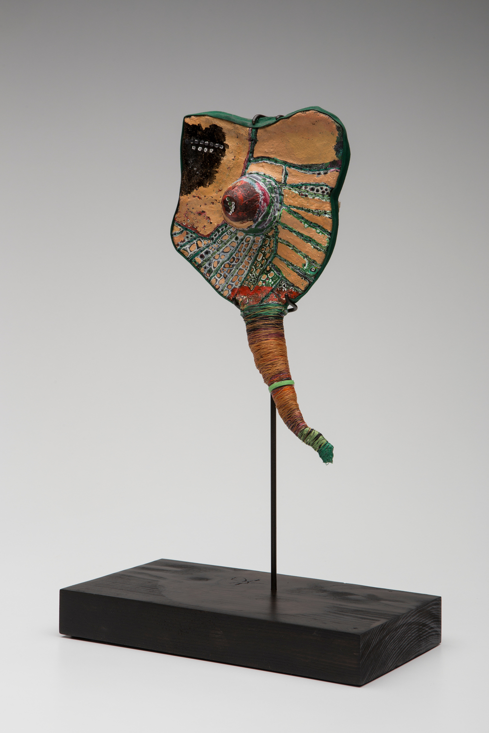 Prayer Paddle: Eros , mixed media, 10 by 7 inches, 2007-2014.