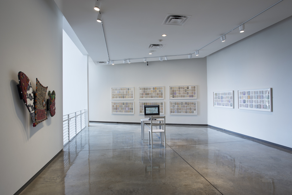 What Was Beautiful,  (installation view, Daum Museum of Contemporary Art), mixed media, 8 framed works, 24 inches by 48 inches each, 2007-2014.
