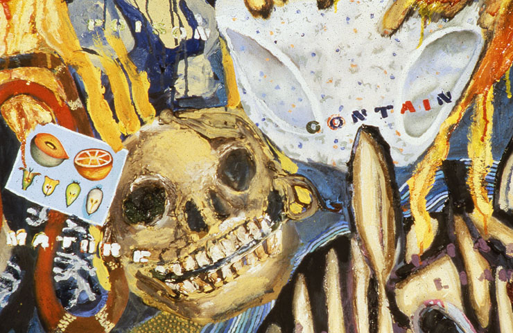 In My Spanky-Wanky World  (detail), oil paint on canvas, 1997-1999.