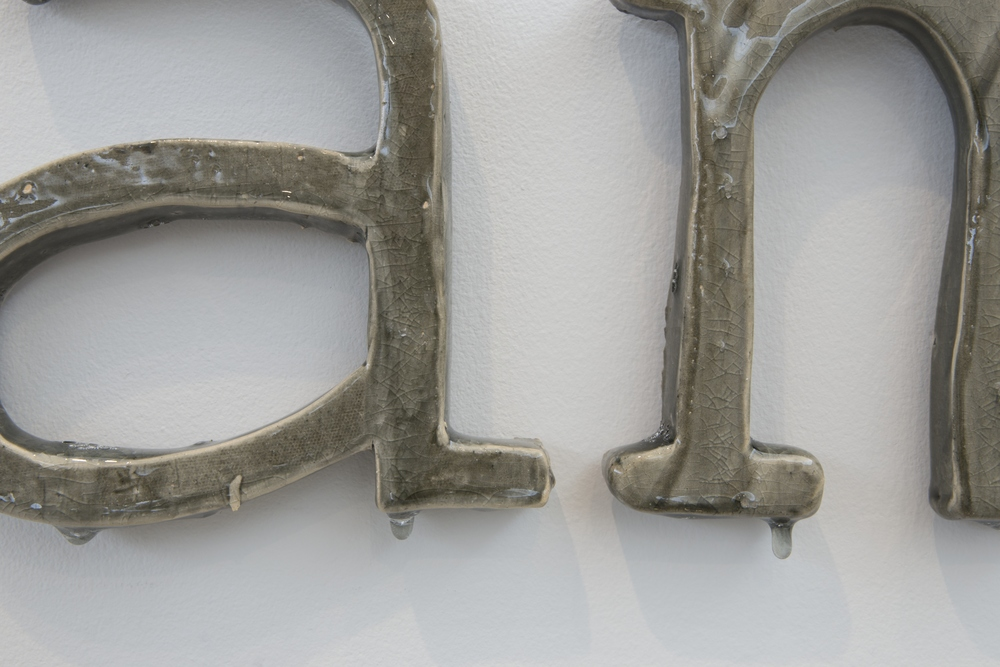 Alphabets and Earth: The Clay Letters , glazed earthenware, dimensions variable, 2015.