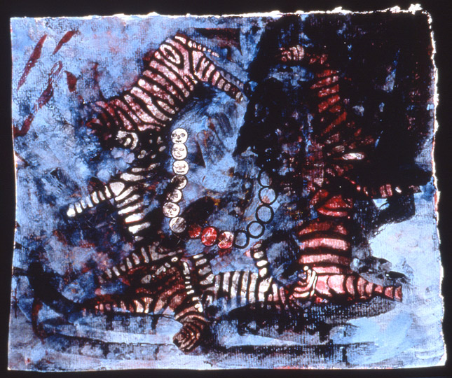 ¨Dark Chain¨ , watercolor on paper, 8.5 in x 7 in, 1996.