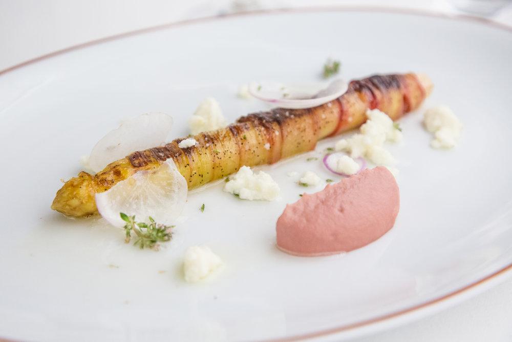 White Asparagus + Rhubarb