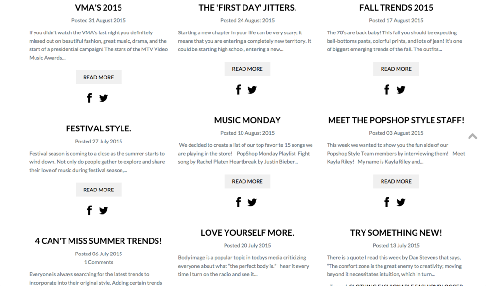 PopShop Style Blogs.