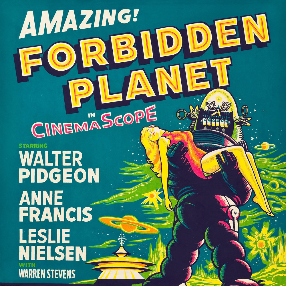 FORBIDDEN PLANET 30X40 ON LINEN