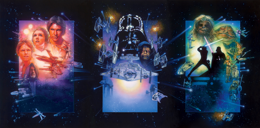 Previously released STAR WARS TRIPTYCH by DREW STRUZAN