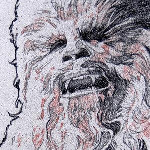 Star Wars USPS Chewbacca Comic Art