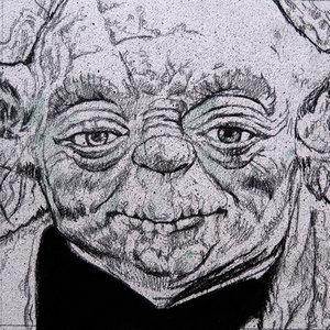 Star Wars USPS Yoda Comic Art
