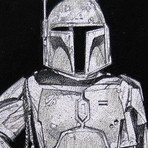 Star Wars USPS Boba Fett Comic Art