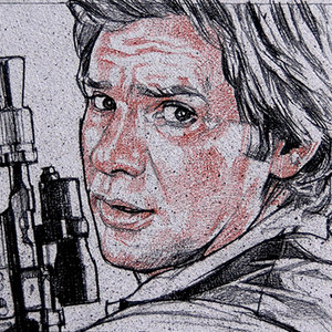 Star Wars USPS Han Solo Comic Art