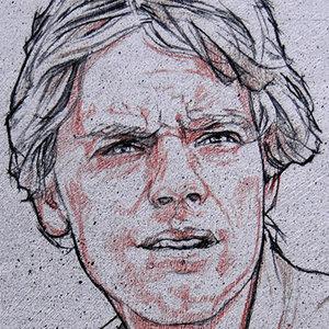 Star Wars USPS Luke Skywalker Comic Art