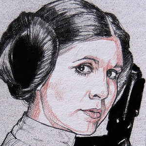 Star Wars USPS Princess Leia Comic Art