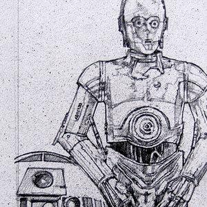 Star Wars USPS Droids Comic Art