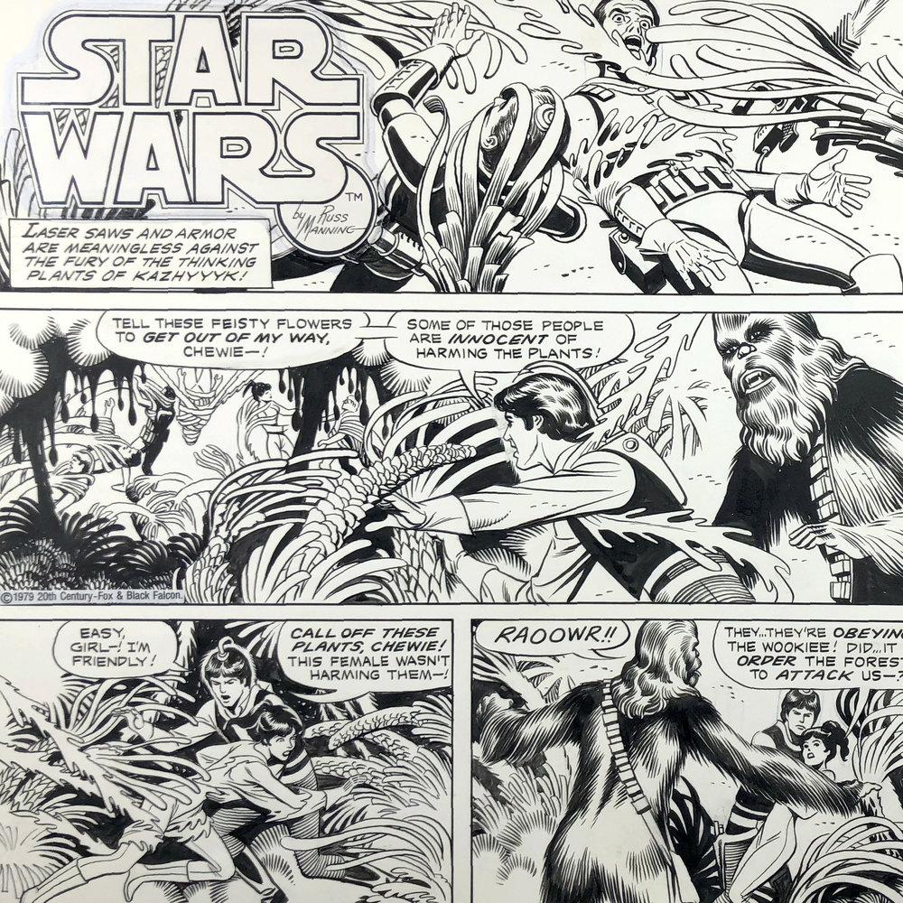 star war strip newspaper Comic
