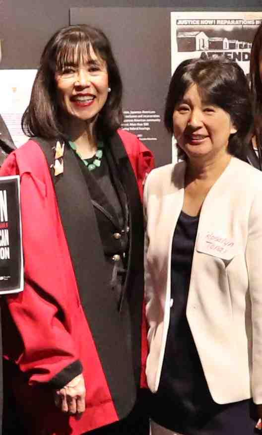 Korematsu Institute Executive Director Karen Korematsu and National Japanese American Historical Society Executive Director Rosalyn Tonai.  Photo by Darren Yamashita
