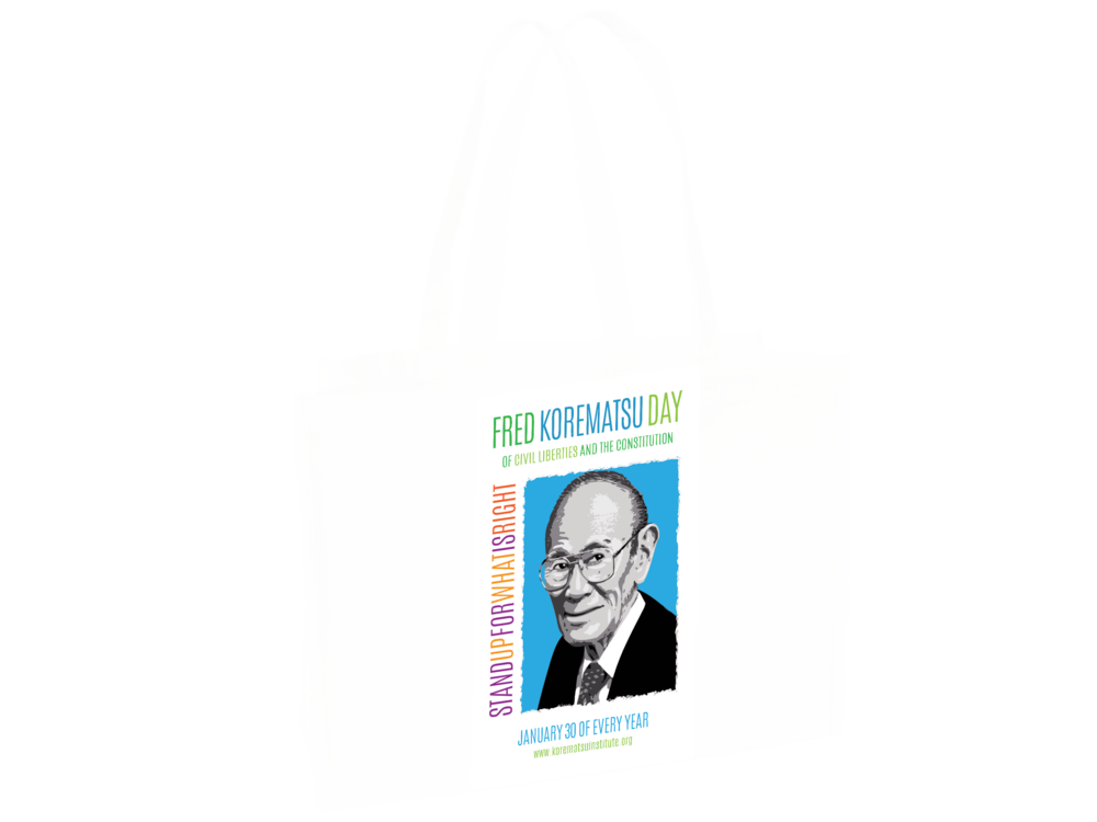 Every winner receives a Fred Korematsu Day Bag along with their Prize.