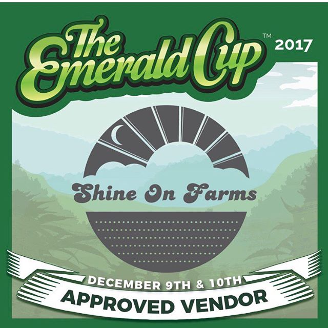 December seems so far away now.  I can't wait to reunite with my community of farmers & artisans & visionaries.  We'll be there with off-grid flowers & rosin as well as good spirit!  #cannabiscommunity #emeraldcup2017 #shineonforever #dempure #grownwithintention 🌱💜✨🌈