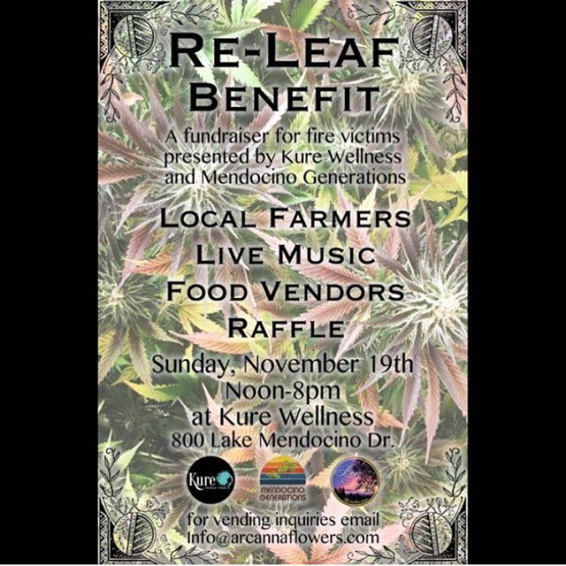 Come see us on Sunday....great cause & plenty of this season's freshest flower.  We'll have some high-CBD #harletsu, #aficanzebra, #hellinabucket & #91krypt  #cannabiscommunity #mendocinocounty #sungrown #shineonforever ✨
