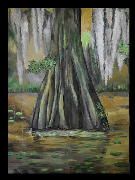 Cypress Tree Painting