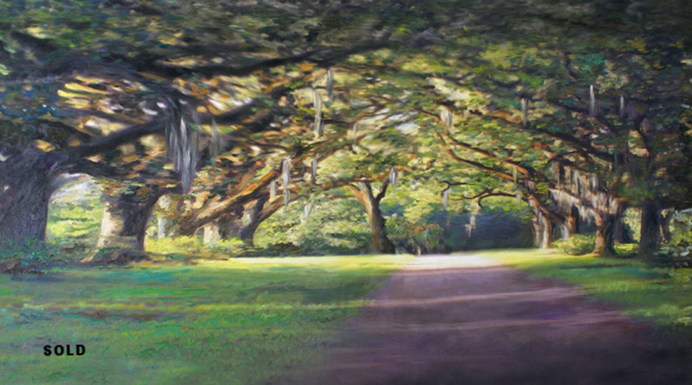 The Oaks  An anamorphic image.