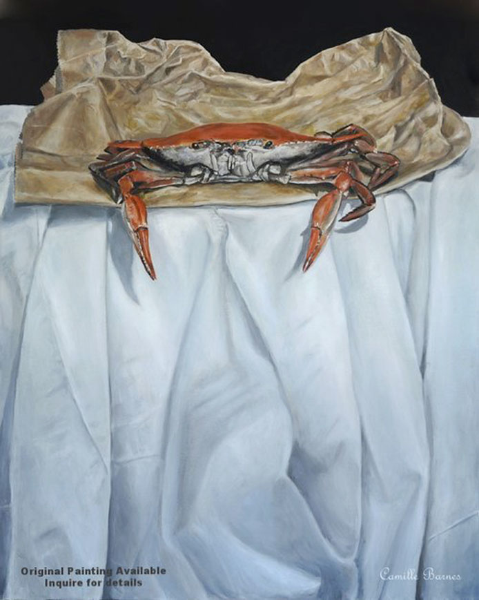 Bag a Crab  Oil Painting