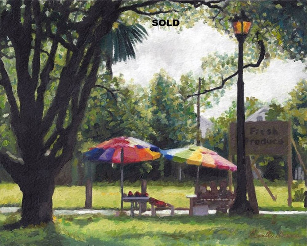 New Orleans Produce Stand  Oil Painting