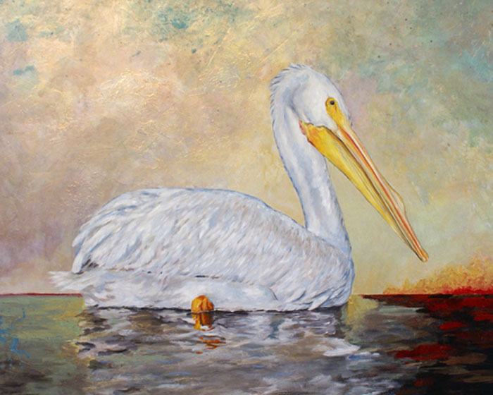 Pelican - Oil on Panel  Contemporary Realism