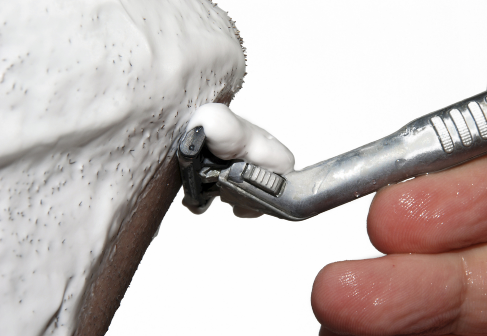 close up shave