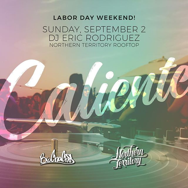 @ericmrodriguezp is spinning Latin hits on the roof from 3-9pm! Come for brunch and stay to dance 💃🏼