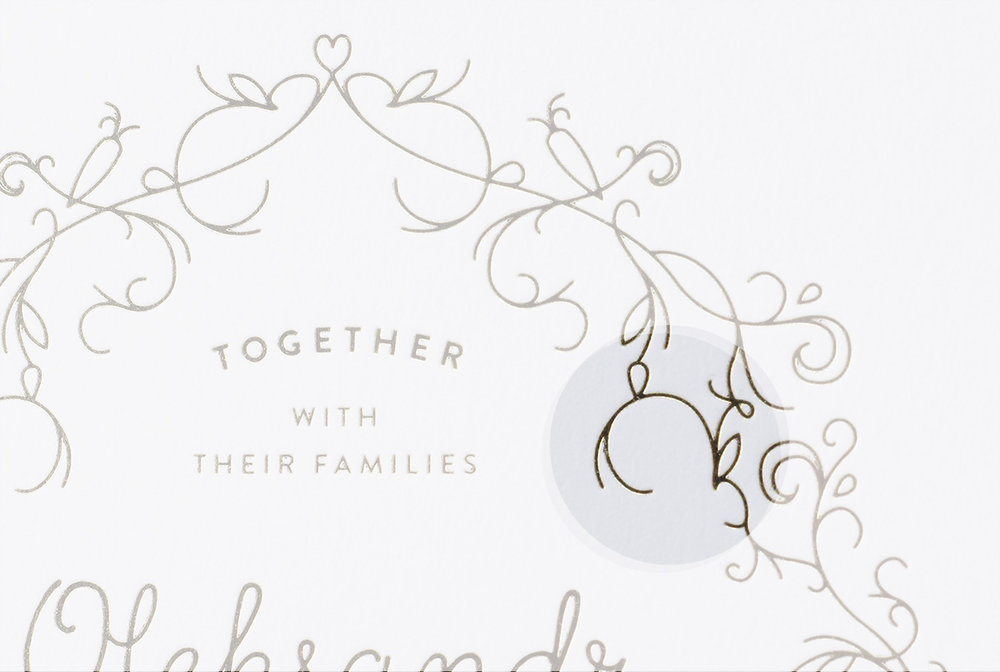 PROJECT OVERVIEW - For Oleksandr and Natasha's wedding, the couple requested their wedding invitation be a reflection of their careful planning and passion for detail. Throughout the design are ten hidden rabbits and eight carrots, a nod to the couples' favorite childhood story, Peter Rabbit. Can you find all the hidden elements?