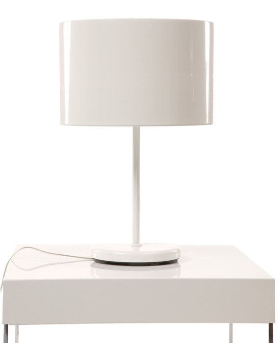 Genial White Drum Table Lamp