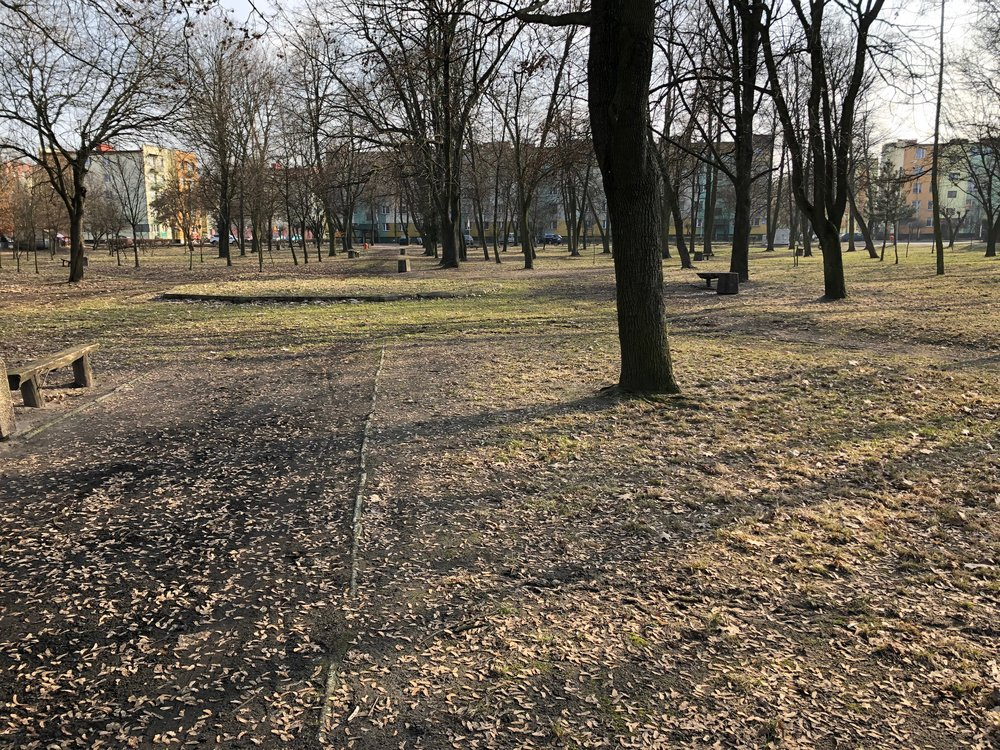 Kirkut or Jewish cemetery in Parczew. Now a park.