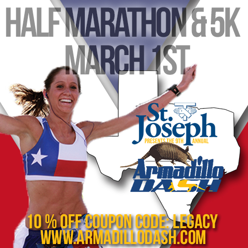 Armadillo Dash Half Marathon Coupon Code from www.brittanysuell.com
