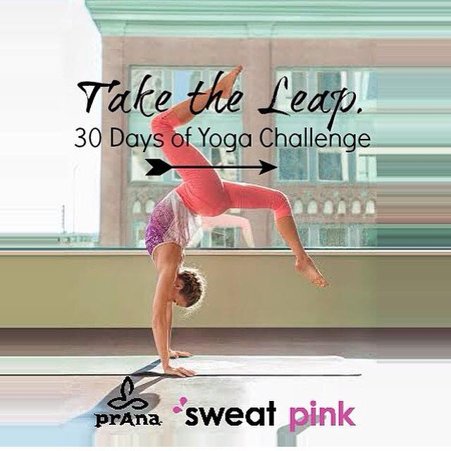 The 30 Day Yoga Challenge, #TaketheLeap, hosted by @prana & @fitapproach www.brittanysuell.com