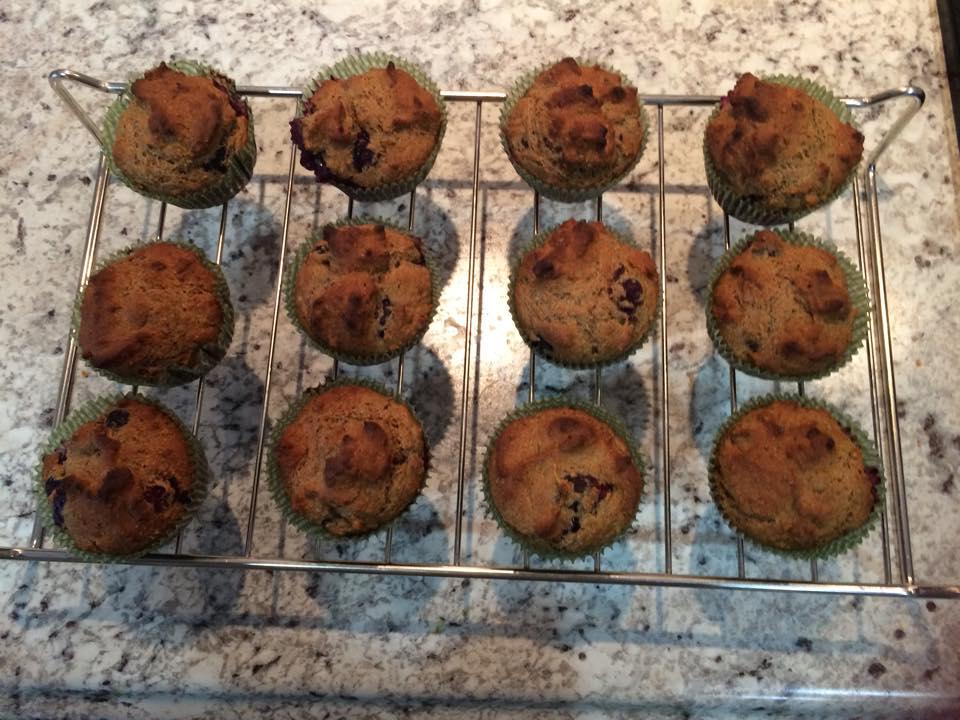 Sugar Free, Gluten Free, super tasty Blueberry Muffins by @brittanysuell