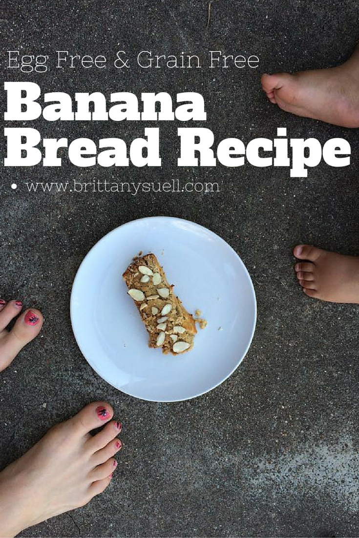 Banana Bread Recipe, No Eggs or Grains! Easy, and super yummy! by @brittanysuell