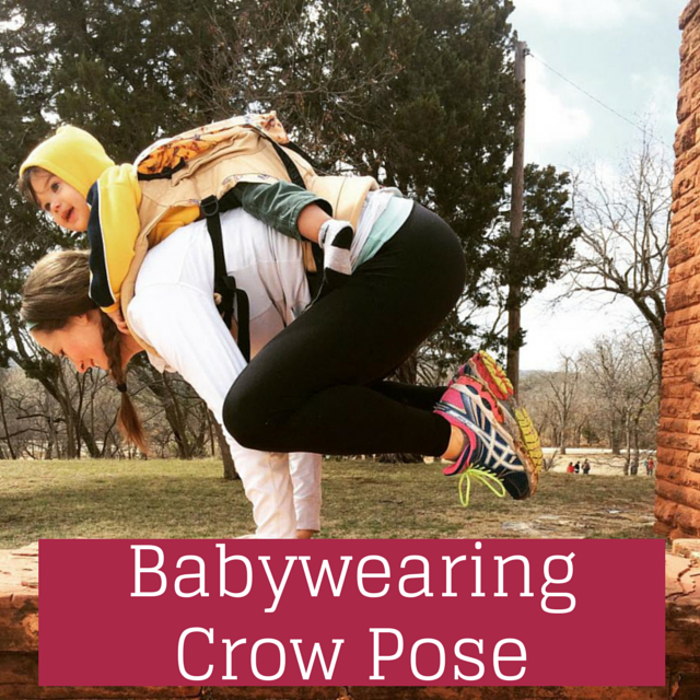 Babywearing Crow Pose with @brittanysuell
