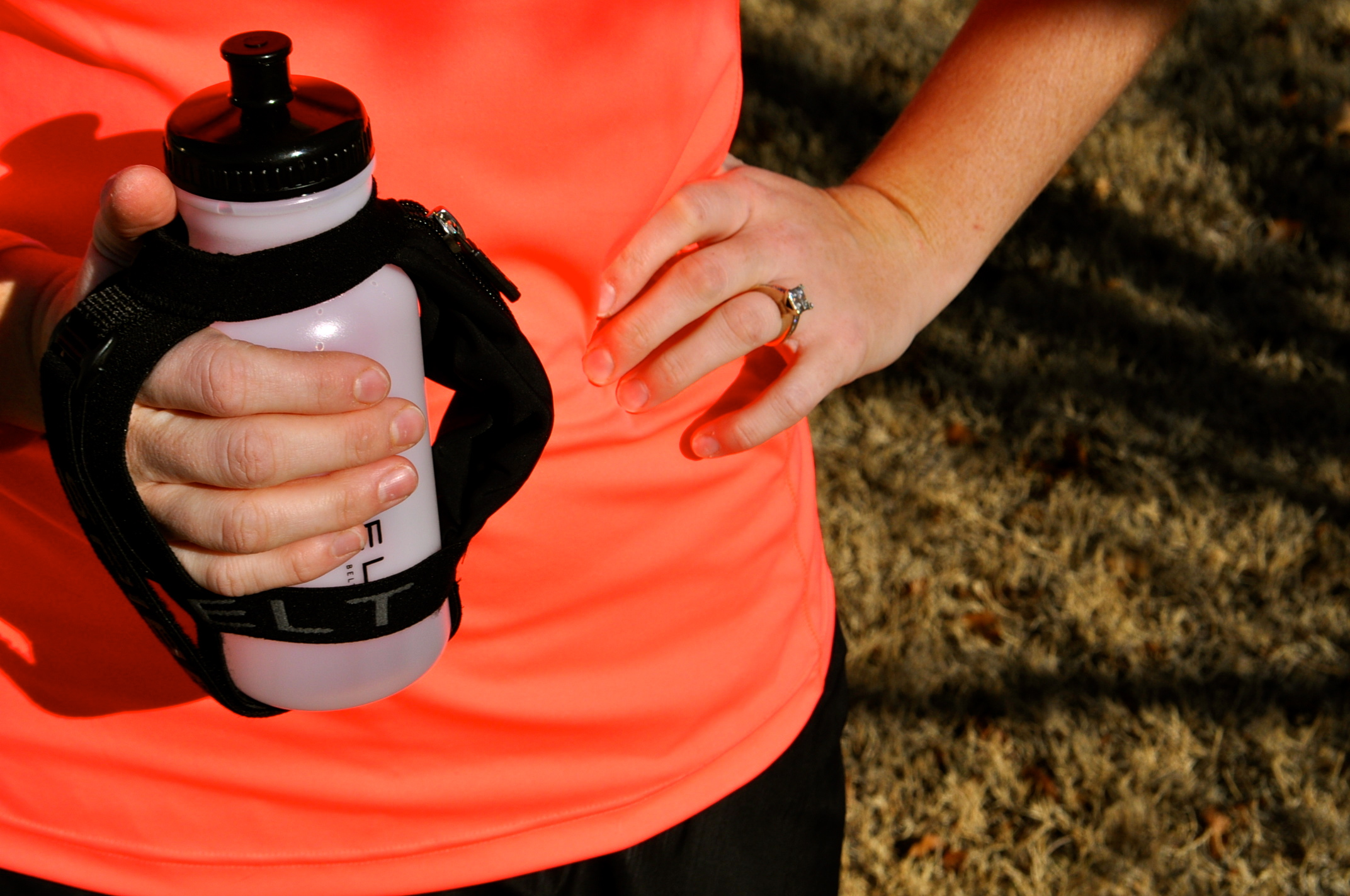 It's Summer, and the SPI Belt Water Bottle is keeping me fueled during these hot runs! via @brittanysuell