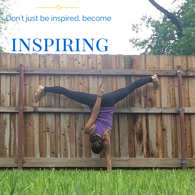 Don't just be inspired...become the one that inspires others! Try implanting these tips from @brittanysuell and become a person that motivates and inspires others!
