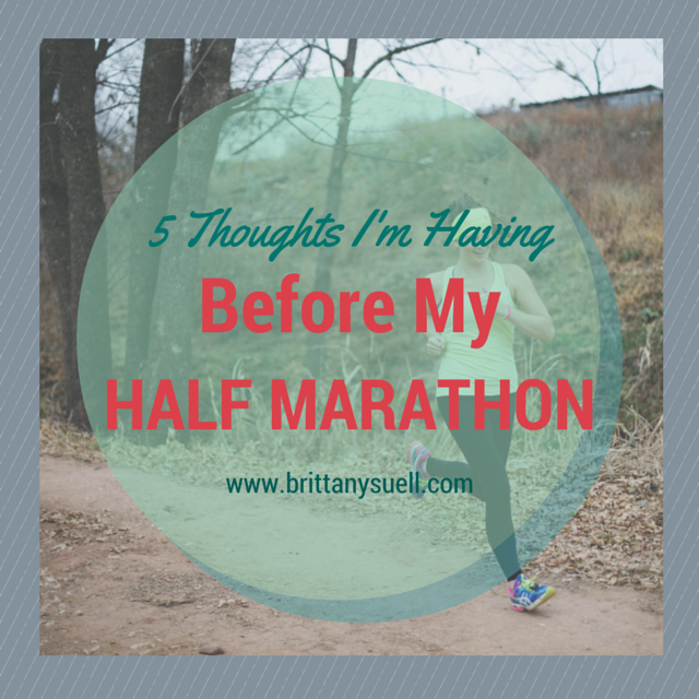 If you are training for a half-marathon, be prepared...you might start having some of these crazy thoughts! via @brittanysuell