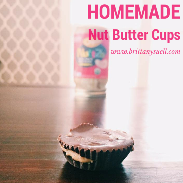 Homemade Reese's Peanut Butter Cups! No Sugar, made with Nuttzo butter. Easy to make sweets, plus they are good for you! @brittanysuell