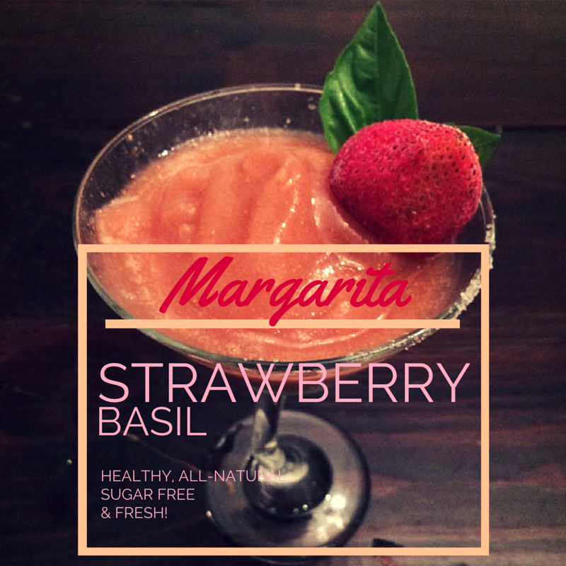 Healthy, All-Natural, Sugar Free, Fresh STRAWBERRY BASIL Margarita Recipe by @brittanysuell