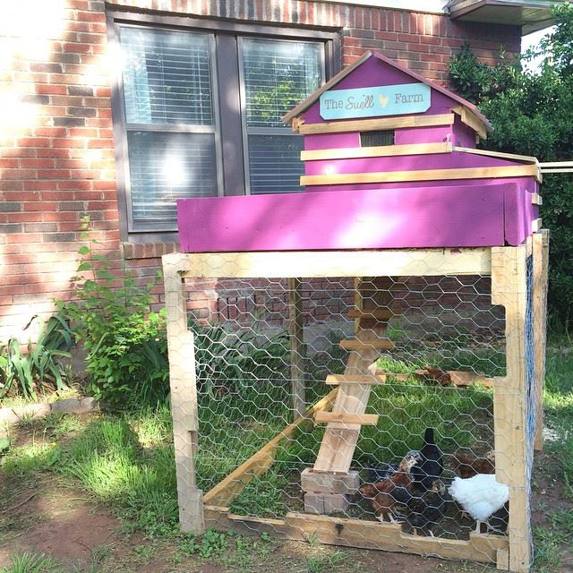 Modern Chicken Coop with Garden Box by @brittanysuell